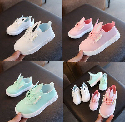 2019 Kids Girls Casual Single Shoes Fashion Toddler Babys Princess Shoes Pearls