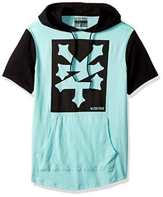 Product description. Color blocked hooded short sleeve fashion pullover tee  with anorak pockets. Southpole Mens Anorak Colorblock Short Sleeve Hoodie  Single ... 429fceaba