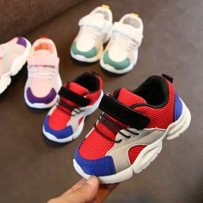 Breathable Kids Boy Girls Sports Shoes Fall Toddler Baby Running Shoes Mesh Size
