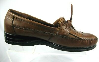 5d1c873f1d36 Dr. Scholls Double Air-Pillo Kiltie Loafers Brown Moc Toe Leather Upper 12