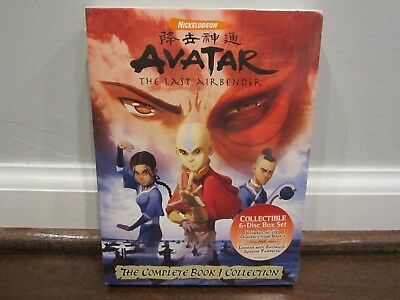 Avatar: The Last Airbender  The Complete Book 1 Collection (DVD, 6-Discs) SEALED