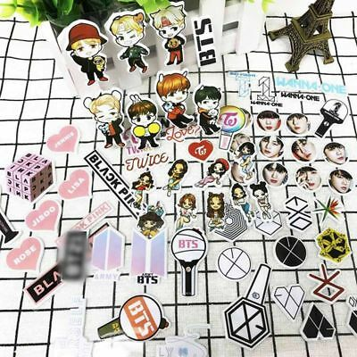 Kpop BTS EXO TWICE WANNA ONE BLACK PINK DIY Bubble Stickers Cute Phone Sticker
