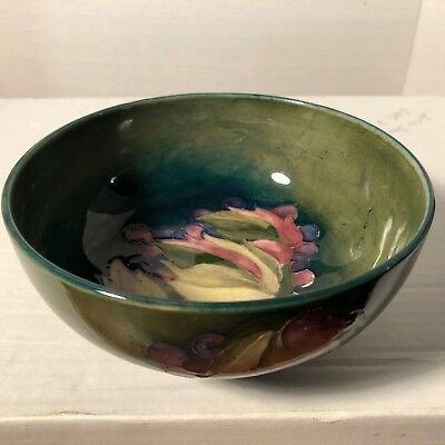 William Moorcroft 'Leaf and Berry' Small Fruit Bowl signed,c1930 Made in England