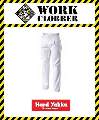 Hard Yakka Cotton Drill Pants White Y02501 *DISCONTINUED* NEW WITH TAGS!