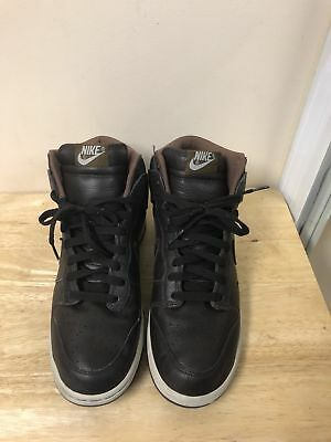 timeless design ccbec a31f6 Nike Dunk High Leather Brown Men Size 10.5 Shoes Sneakers 312786-222
