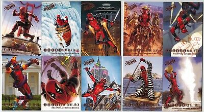 2017 Fleer Ultra Spider Man Marvel Deadpool Across America 10 Card Insert Set