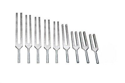9 Sacred Solfeggio  Tuning Forks Unweighted WITH LARGE HANDLE + Mallet