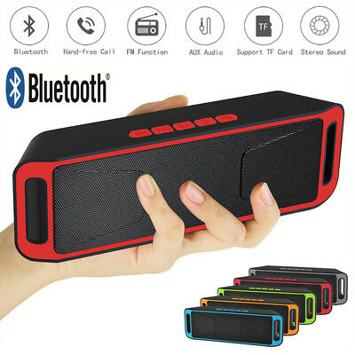 SC208 Mini Bluetooth Speaker Wireless Bass Stereo for Smart Phone Tablet PC LOT#