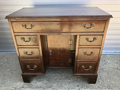 Antique Small Mahogany Knee Hole Desk