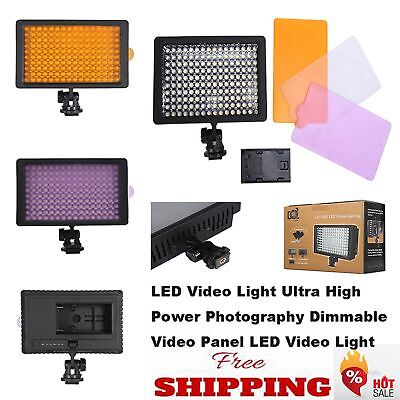 Neewer 160 LED Dimmable Panel Digital Camera Video Light for Canon Nikon DSLR DV