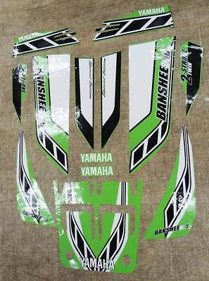 Yamaha banshee quad stickers graphics decal 13pc Special Edition Green/White ATV