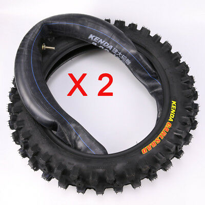 KENDA 12 Inch 80/100-12 Knobby Tyre With Tube For Dirt Bike Motorcycle Off-road