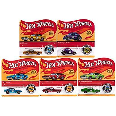 Set 5 Hot Wheels 2018 50th Anniversary Originals Redlines Series Complete Cars