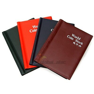 120 Slots Coin Album Money Penny Collecting Holder Pockets Storage Folder Book