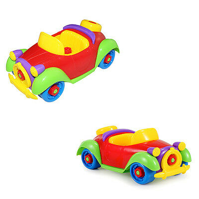 1x Plastic Car Toy Children's Educational Model ABS Assembly Block Tool Gift Hot