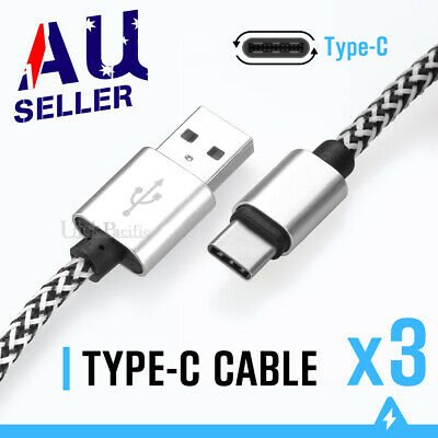 FAST Nylon USB Type C Charger Charging Cable Data For Samsung Huawei Google OPPO