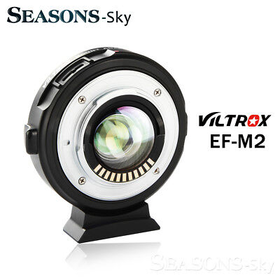 Viltrox EF-M2 AF Lens Adapter Auto-focus 0.71x for Canon EF to M43 Camera GH4 56