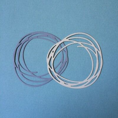 scrapbooking diecuts - Circle scribble x 8 pieces