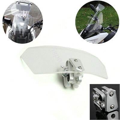 Motorcycle Adjustable Clip Windshield Extension Spoiler Windscreen Deflector