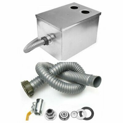 Stainless Steel Grease Trap Interceptor Set For Kitchen 5GPM Gallons Per Minute