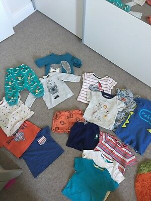Huge baby Bundle Tshirts shorts romper John Lewis Little Green Radical 6-9m