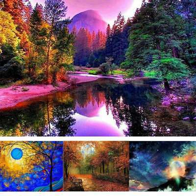 Home Decors Full Drill DIY 5D Diamond Painting Landscape Embroidery Cross Stitch