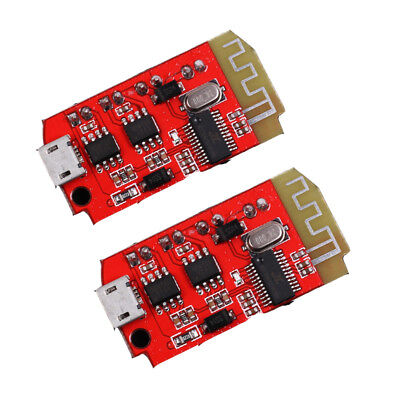 2PCS CT14 Micro 4.2 Stereo Bluetooth Power Amplifier Board Module 5VF 5W+5W USB