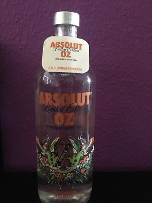 Absolut Vodka OZ 1l Limited edition Versiegelt Mit Tag