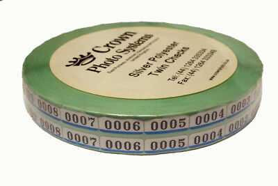 Crown Photo Silver Twin Check Labels - Minilab, Photography, Film Label