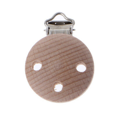 Dummy Clip 35mm Beech Wood Pacifier Clip Nipple Holder DIY Pacifier Clips Chain