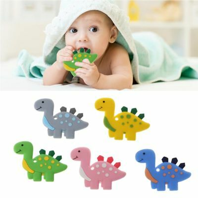 Baby Teethers Dinosaur Pendant Necklace Accessory BPA Free Silicone Chew Toy