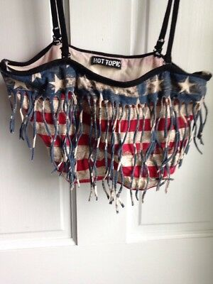 Hot Topic Red White Blue Stars Stripes Bralette Size Large