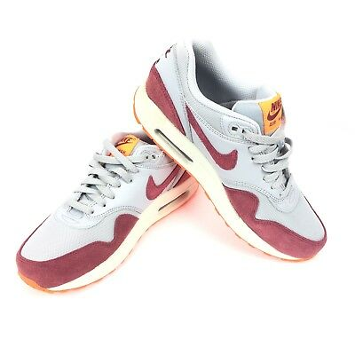 buy popular 812bc c37ee NIKE AIR MAX 1 Essential Women s Wolf Grey Red Orange Sz 8.5 599820-015 -   114.99   PicClick