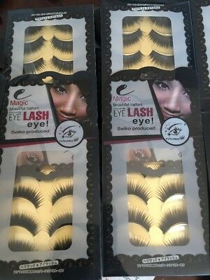 200 Pairs False Eyelashes Fashion Eye With Glue Wholesale Job Lot Uk