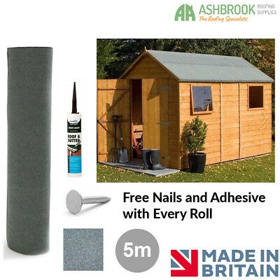 Green Shed Felt | Roofing Felt 5m (Including FREE Nails and Adhesive)