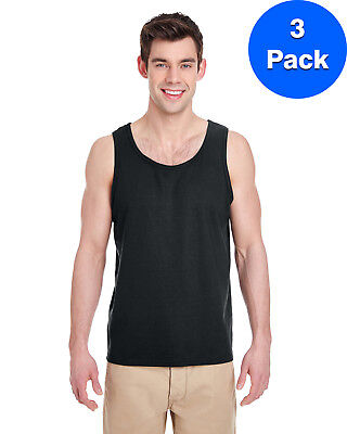 Gildan Mens Heavy Cotton Tank Top 3 Pack G520 All Sizes
