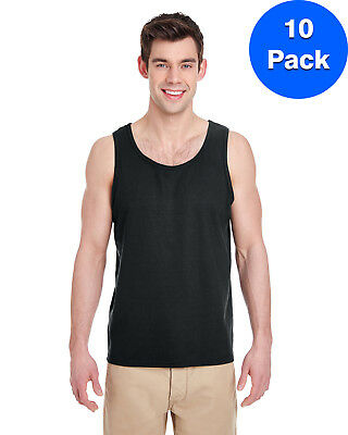 Gildan Mens Heavy Cotton Tank Top 10 Pack G520 All Sizes