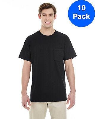 Gildan Mens Heavy Cotton T-Shirt with a Pocket 10 Pack G530 All Sizes