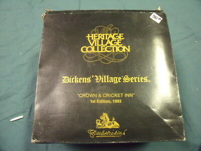Dept 56 Dickens Village, Crown and Cricket Inn 1st Edition 1992 No. 57509! O1