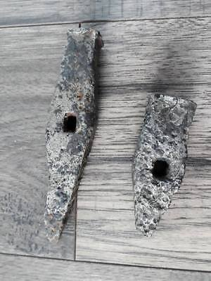 lot of 2 Medieval Mining Chisels