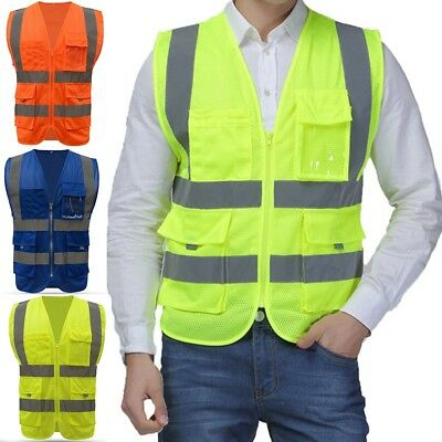 Men Women Safety Security Visibility Reflective Vest Construction Traffic Work
