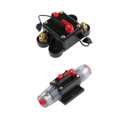 2x Inline Auto Waterproof 100AMP Circuit Breaker Manual Reset Switch 12V 24V