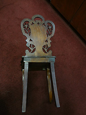 a1027 c.1900 Antique Black Forest - Carved Child's Music Chair