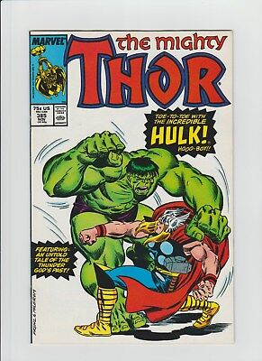 Thor #385 (Nov 1987, Marvel) NM- (9.2) Thor vs. The Hulk !!!!!!!