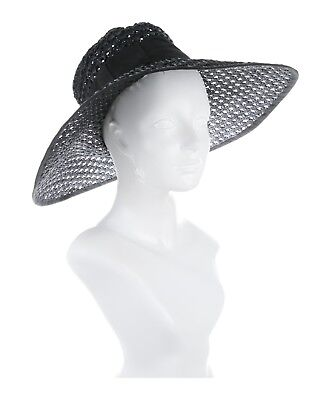 0f6289f1 NEW, KATE SPADE Brim Wide Straw Hat, Bow, Black, Rare - $109.99 ...