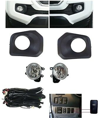for 2005-2011 Toyota Tacoma Clear Bumper Fog Light Lamp w//Wiring/&Bulb Left+Right