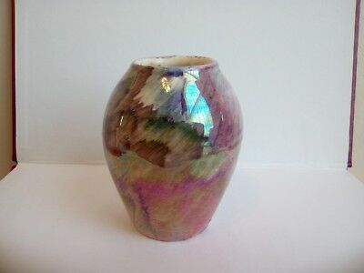 Vintage J.Fryer Ltd Oldcourt ware hand painted lustre small vase