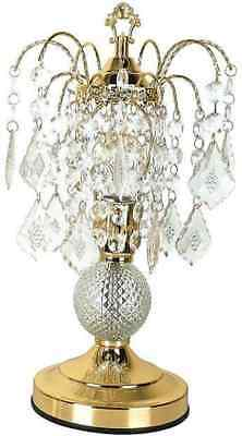 Acme Chandelier Set of 2 Table Lamp in Gold and Glass Finish 03152A