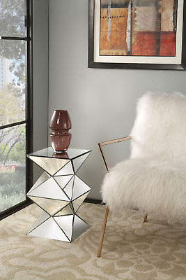 Acme Nyoka Pedestal Stand in Mirrored Finish 97308