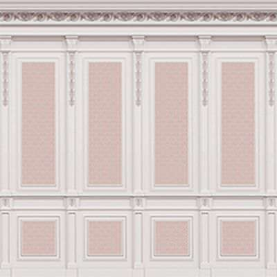 Dollhouse Miniature 1:12 Scale French Wall Panel Boiserie Pink